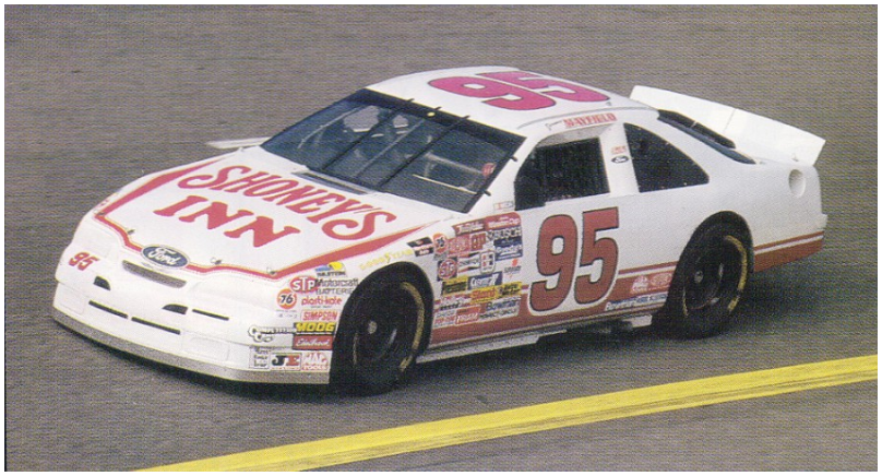 Jeremy Mayfield's #95 Shoney's Inn Ford.png