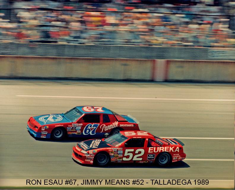Ron Esau and Jimmy Means@Talladega in 1988.jpg